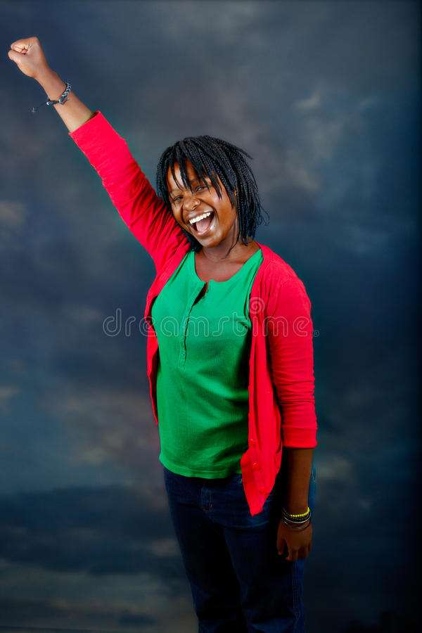 Young African woman stock images
