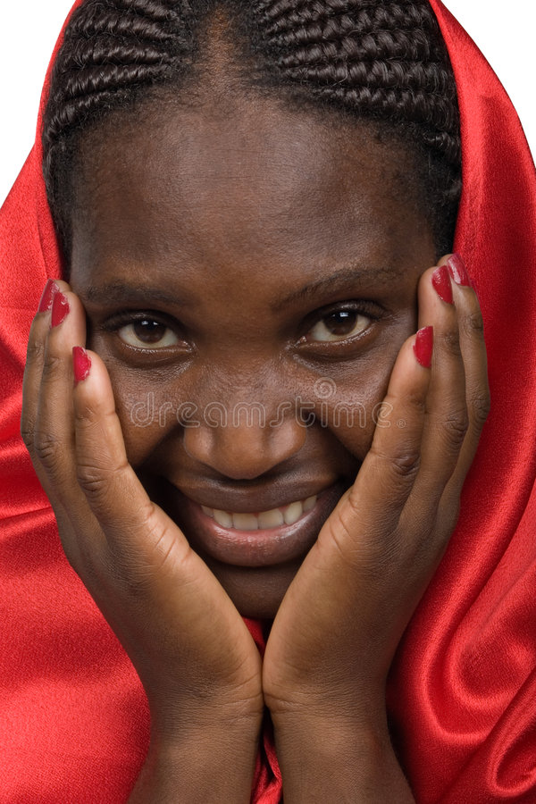Young African woman stock photo