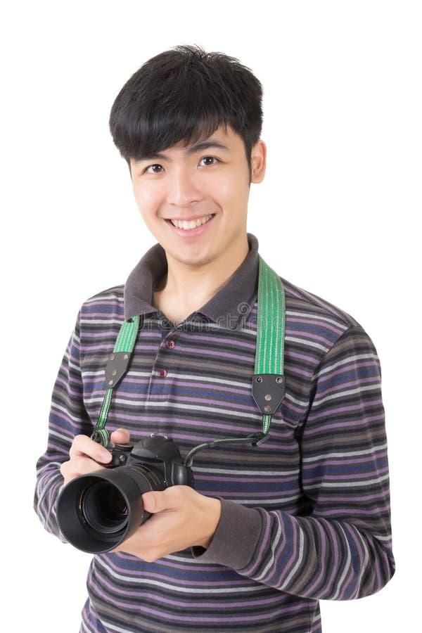 Young amateur photographer stock photography