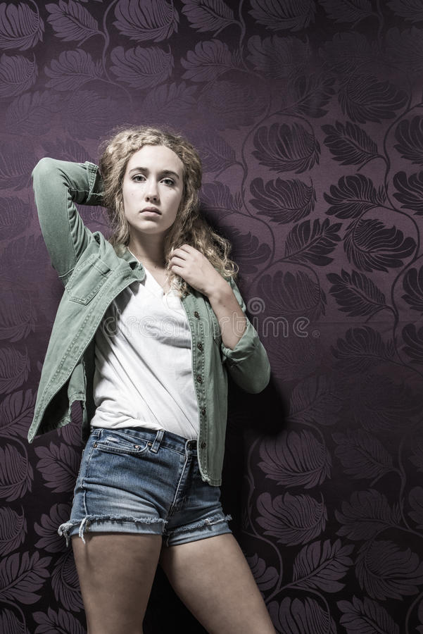 Young American Blonde Female Fashion royalty free stock image