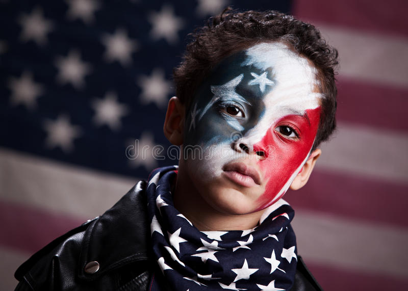 Young American Patriot royalty free stock photography