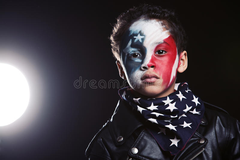 Young American Patriot royalty free stock photos