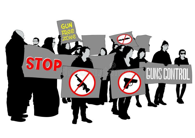 Gun control one vector illustration