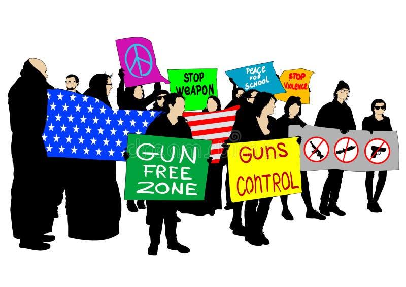 Gun control two vector illustration