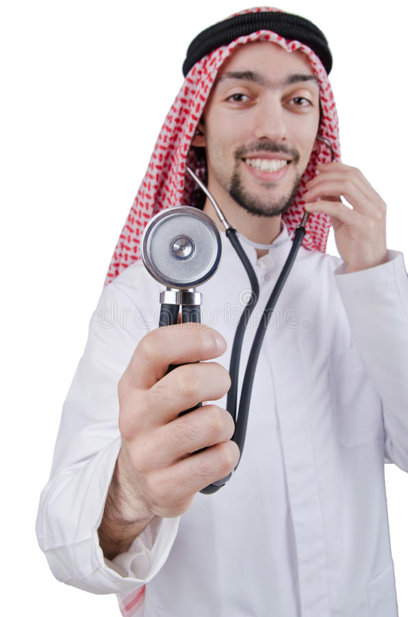 Download Young Arab Doctor With Stethoscope Stock Image - Image of hospital, cutout: 24556577