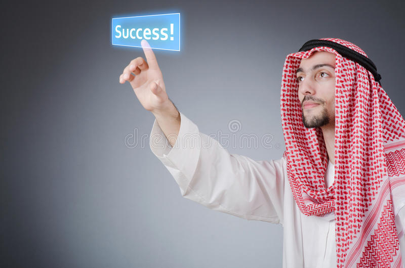 Download Young Arab Pressing   Buttons Stock Photo - Image: 25546366