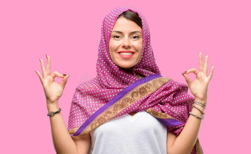 Young arab woman stock images