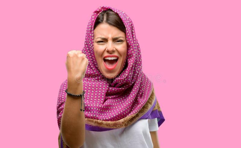 Young arab woman stock photos