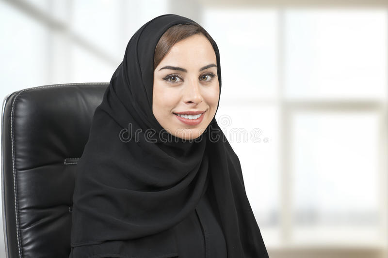 Young Arabian businesswoman in office.  royalty free stock images