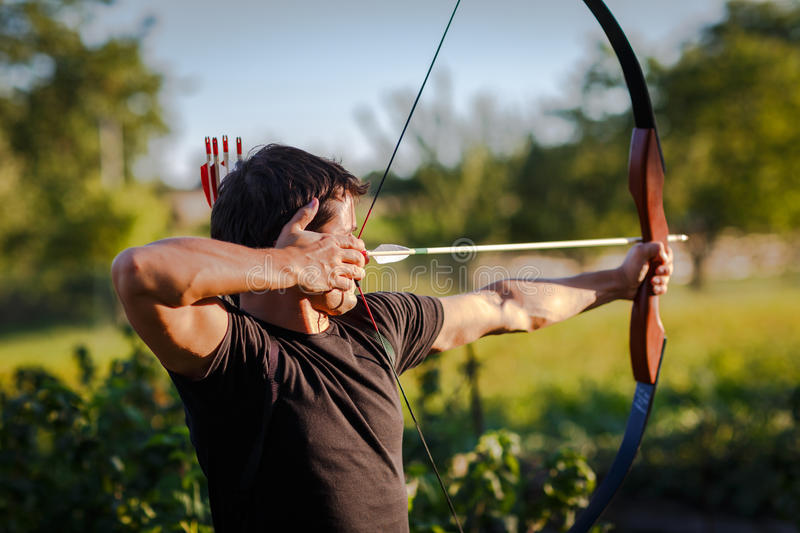 Download Young archer stock photo. Image of arrow, nature, muscle - 26325886
