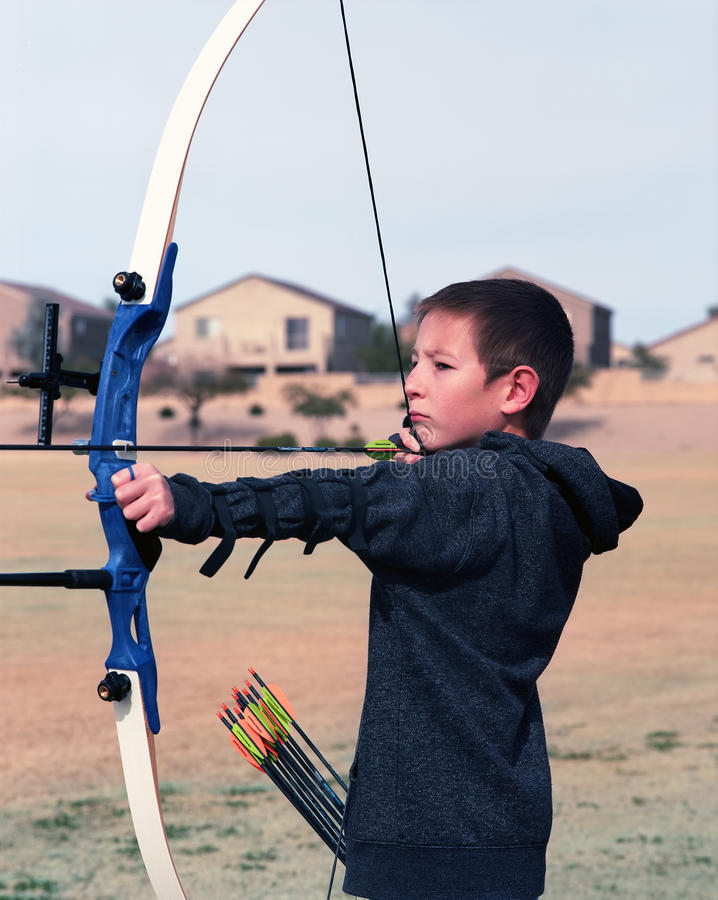 Download Young Archer stock image. Image of funny, sport, hunt - 28615405