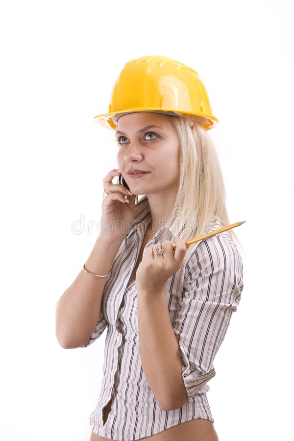 Young architect stock photography