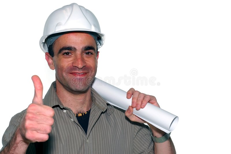 Young architect royalty free stock image