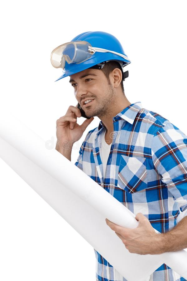 Young Architect Busy By Working Royalty Free Stock Image