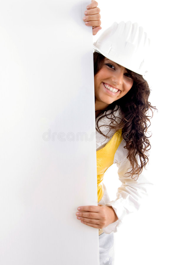 Free Young Architect With Placard Stock Photo - 6987440
