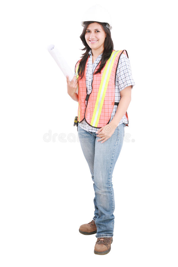 Young Architect Woman Royalty Free Stock Image