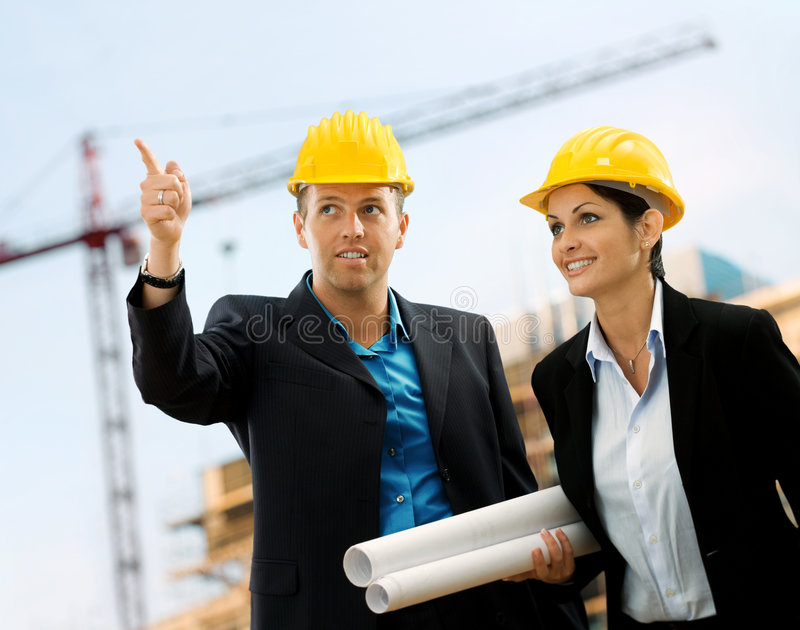 Young Architects royalty free stock photos