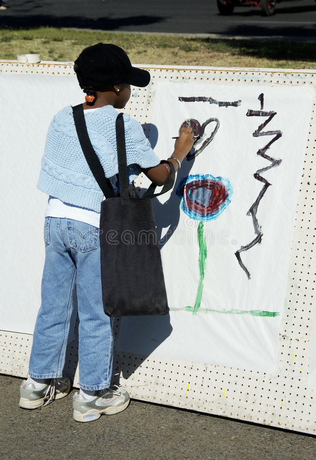 Young artist 1 royalty free stock photo