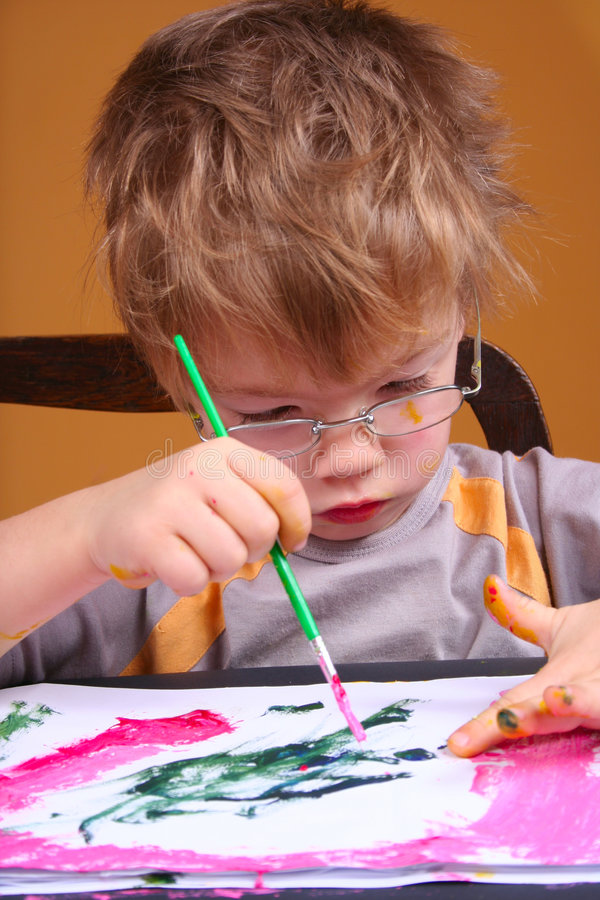 Download Young Artist stock photo. Image of creative, chair, concentrate - 7675158