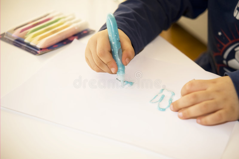 Young artist royalty free stock photography