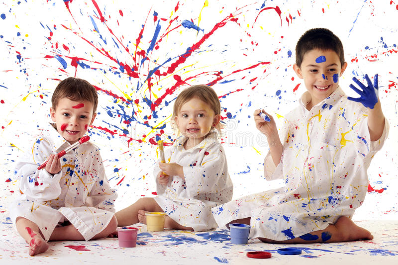 Young Artists at Work royalty free stock photos