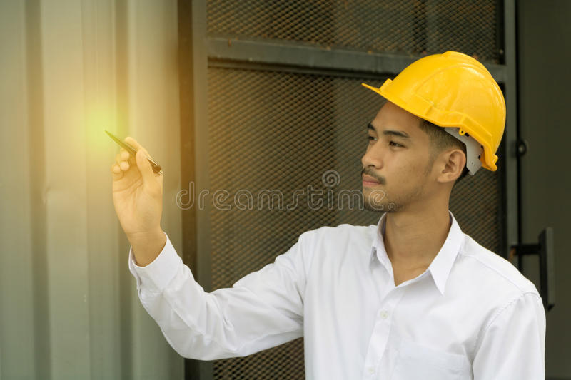 Young Asia man engineer. royalty free stock image