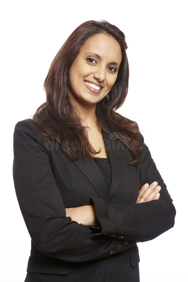 Young asian adult business woman smiling stock image