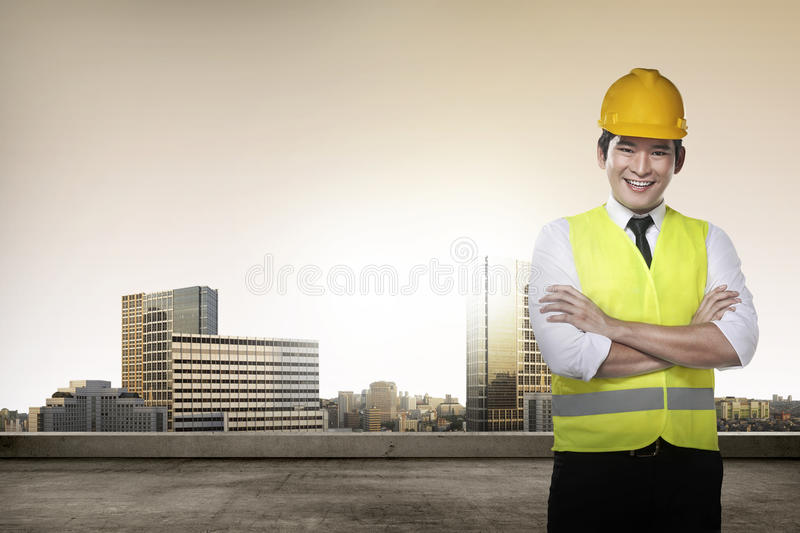 Young asian architect royalty free stock photo