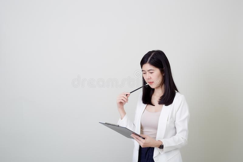 Young asian attractive cheerful businesswoman stock images