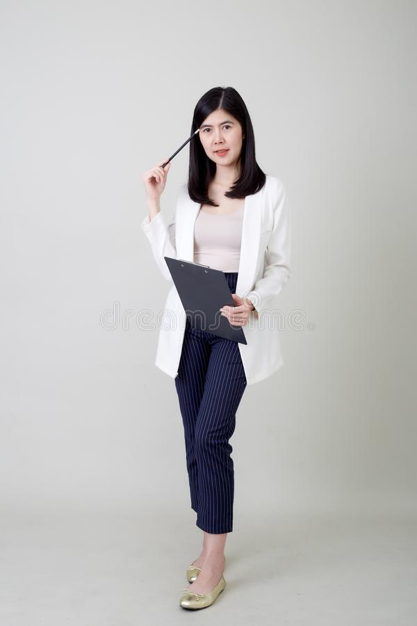 Young asian attractive cheerful businesswoman stock photography