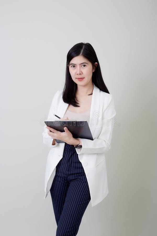 Young asian attractive cheerful businesswoman stock image