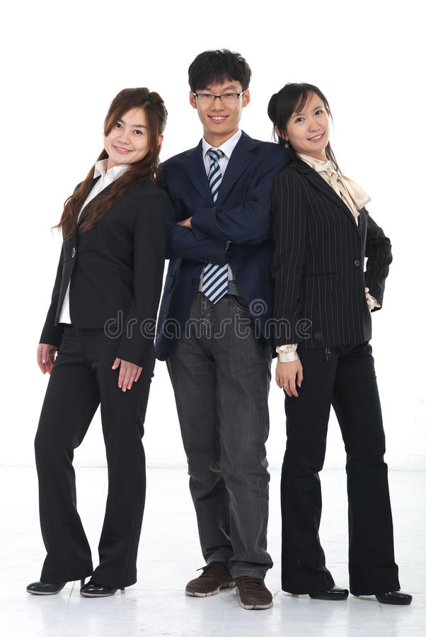 young Asian business people royalty free stock photography