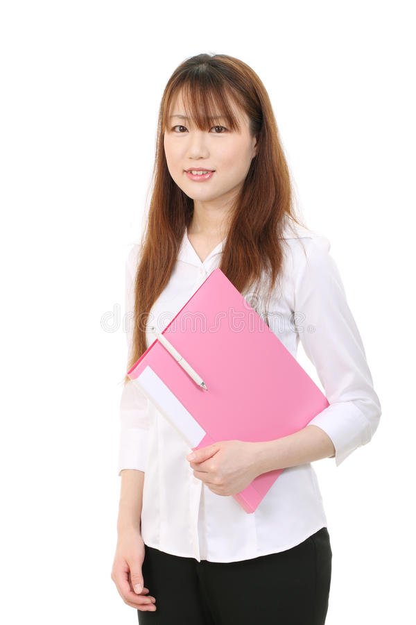 Download Young asian business woman stock image. Image of attractive - 25842531
