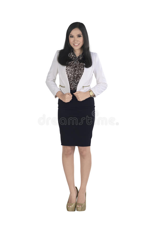 Young asian business woman wearing formal clothes royalty free stock photography