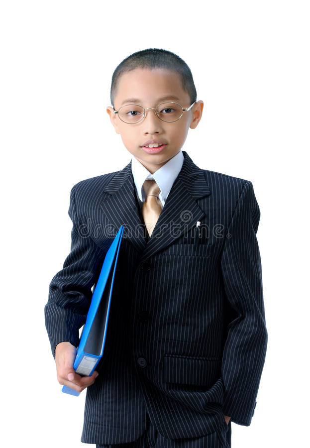 A young asian businessman isolated. In Thailand royalty free stock photos