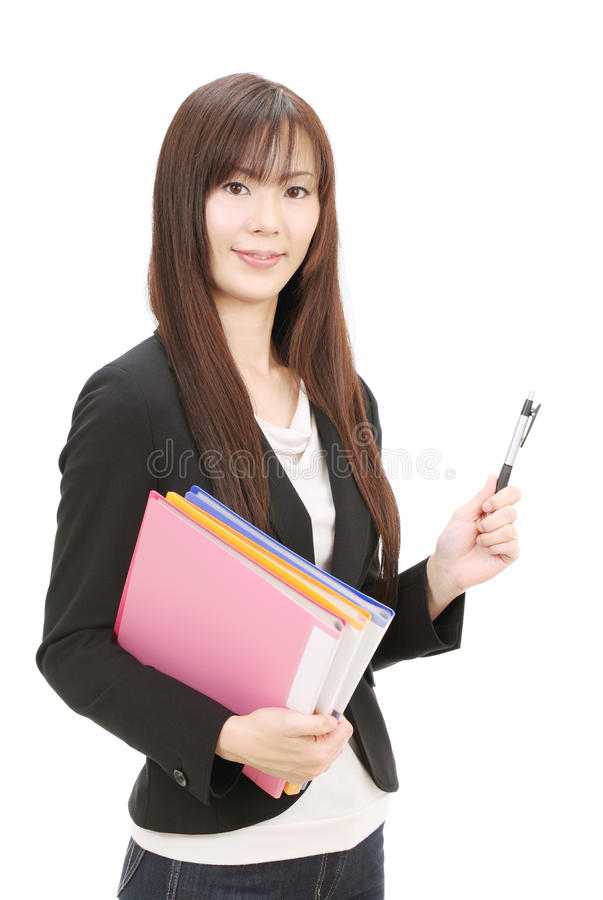 Download Young asian businesswoman stock image. Image of cheerful - 22966643