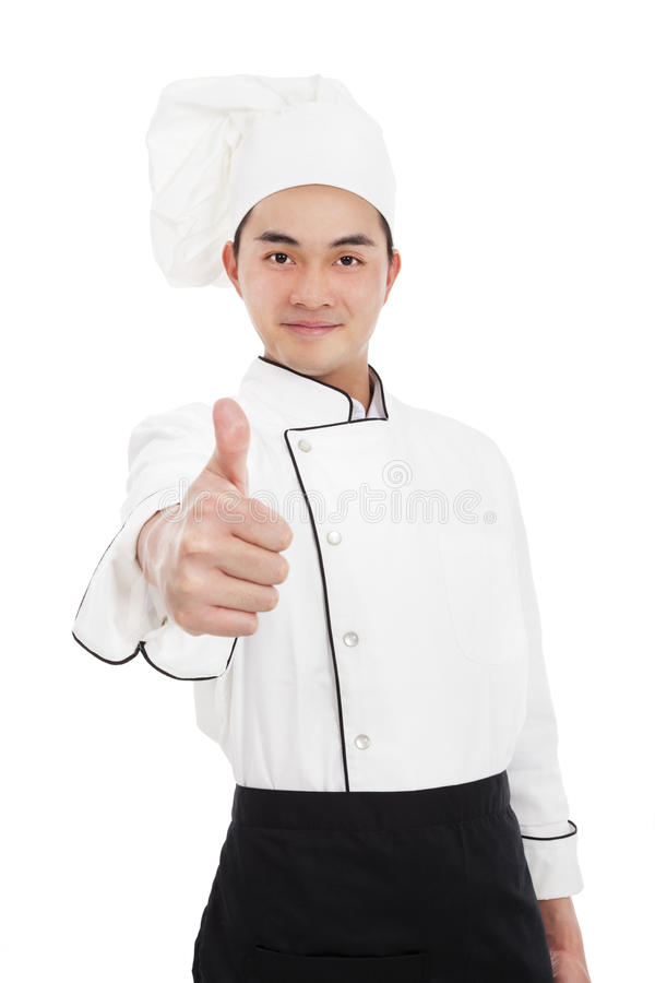 Young Chef With Thumb Up Royalty Free Stock Image