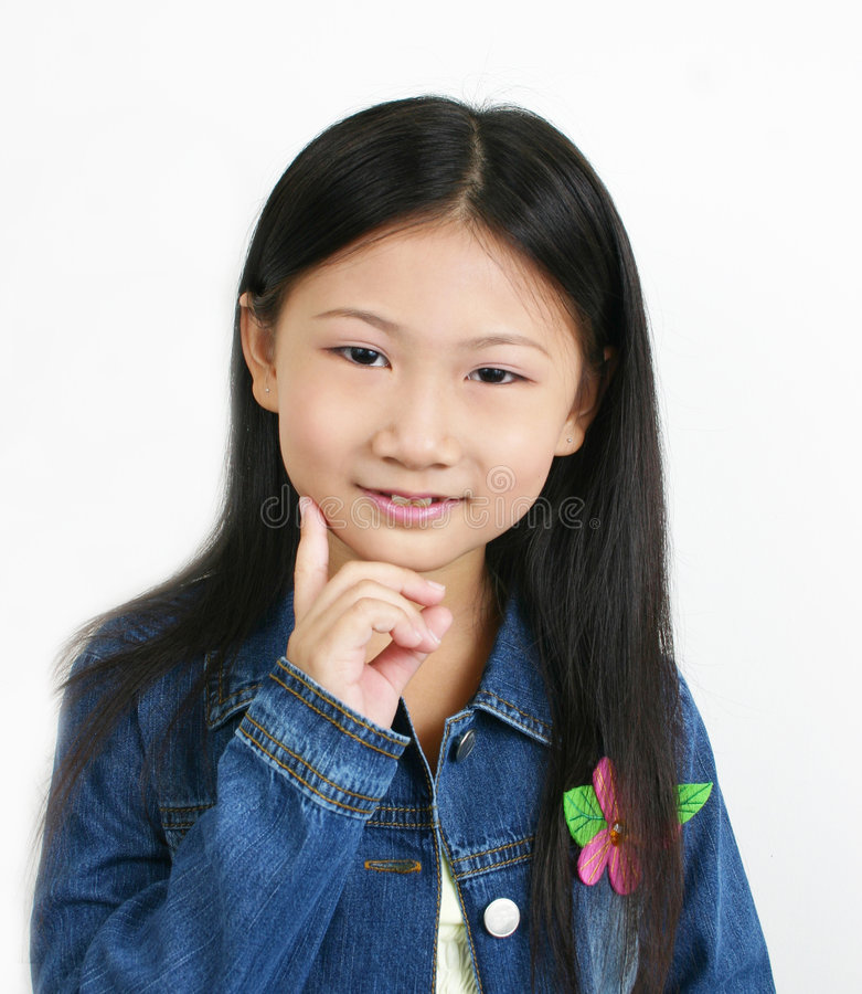 Young asian child 8 royalty free stock images