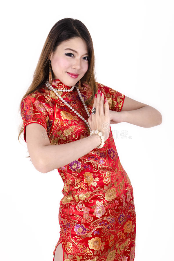 Free Young Asian Chinese Female Dress Traditional Royalty Free Stock Image - 40612796
