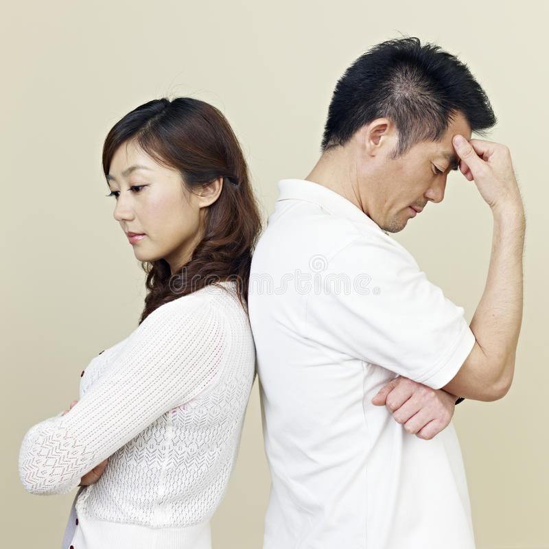 Young asian couple stock photography