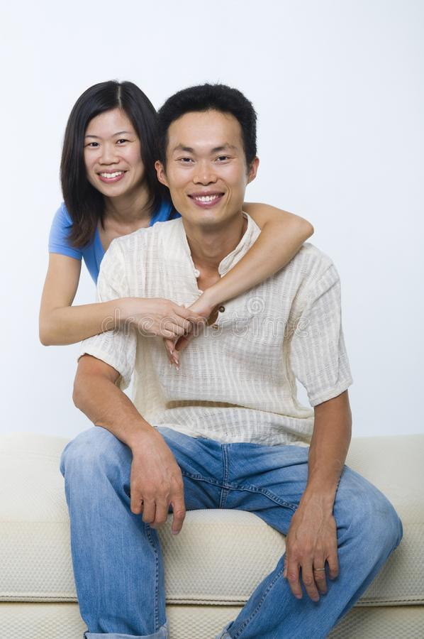 Asian middle age couple royalty free stock images