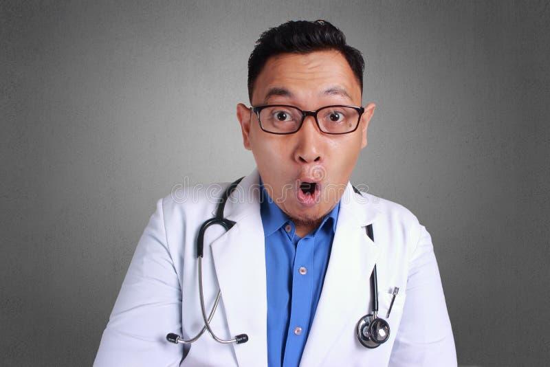 Shocked Doctor royalty free stock image
