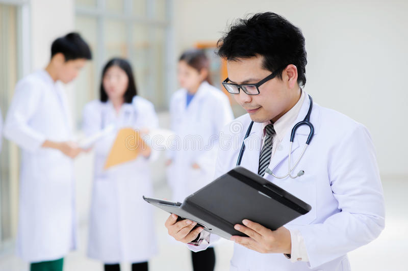 Young asian doctor in hospital stock images