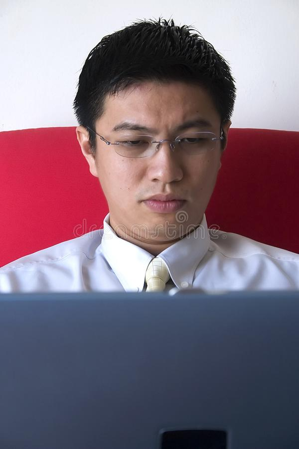 Young Asian Entrepreneur Working royalty free stock photo