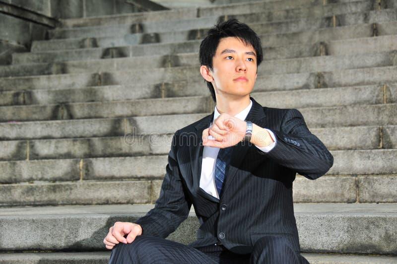 Young Asian Executive waiting 12 stock images
