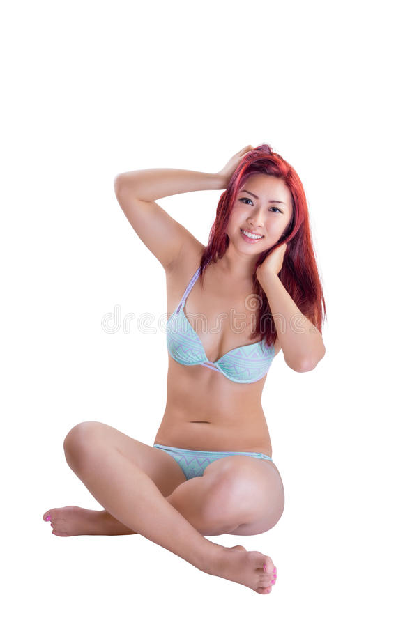 Young Asian Female In Bikini stock images