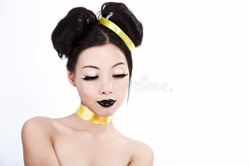 Young asian female with creative makeup royalty free stock images