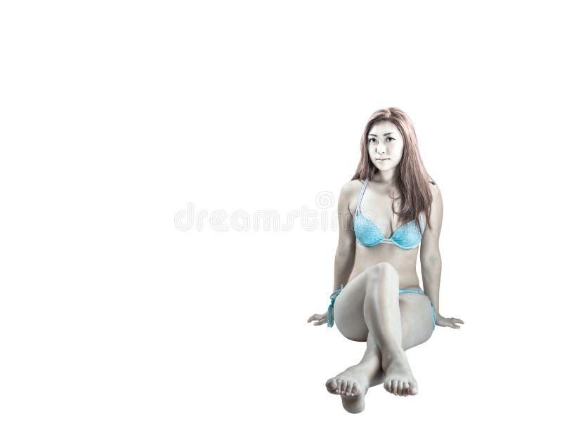 Young Asian Female Wearing Bikini royalty free stock photo