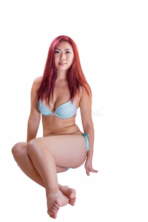 Young Asian Female Wearing Bikini stock photos