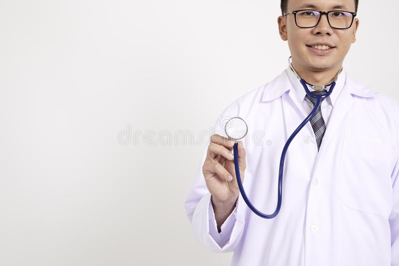 Young asian male doctor royalty free stock images